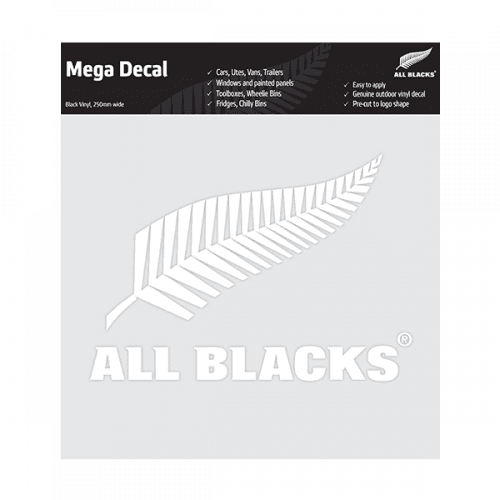All Blacks Fern Mega Decal - White