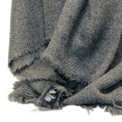 All Blacks Grey Lambswool Twill Throw