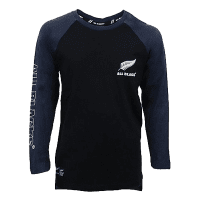 All Blacks Blue Long Sleeve T Shirt